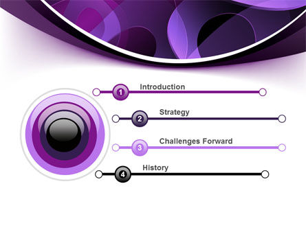 Purple Circles PowerPoint Template Slide 3
