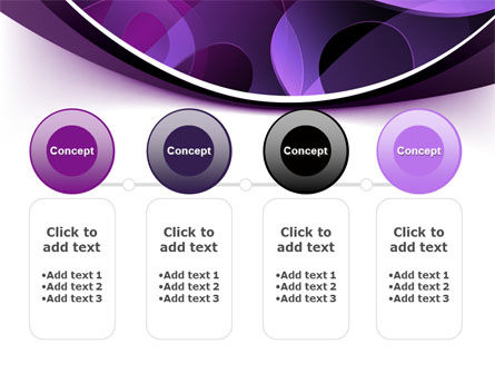 Purple Circles PowerPoint Template Slide 5