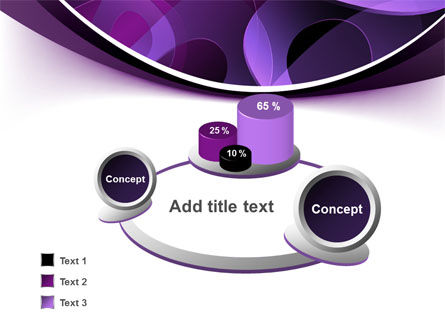 Purple Circles PowerPoint Template Slide 6