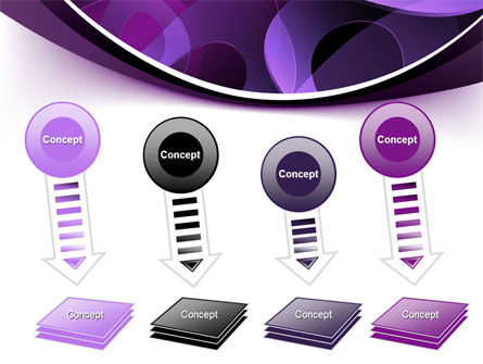 Purple Circles PowerPoint Template Slide 8