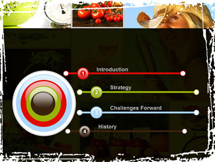 Healthy Food Basket PowerPoint Template, Slide 3, 08727, Food & Beverage — PoweredTemplate.com