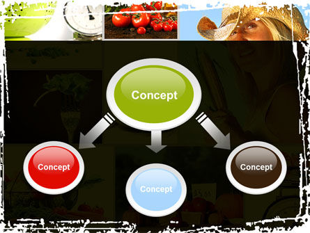 Healthy Food Basket PowerPoint Template, Slide 4, 08727, Food & Beverage — PoweredTemplate.com