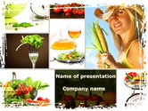 Food & Beverage: Healthy Food Basket PowerPoint Template #08727