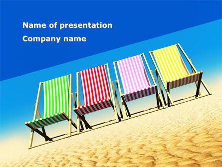 Health and Recreation: Lounge Beach PowerPoint Template #08728