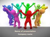 Religious/Spiritual: Rainbow Worship PowerPoint Template #08729
