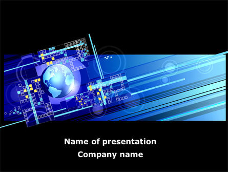 Technology and Science: High Tech Planet PowerPoint Template #08730