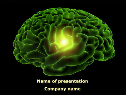 Human Brain Powerpoint Template Backgrounds 08734