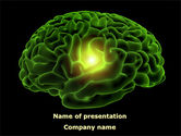 Medical: Human Brain PowerPoint Template #08734