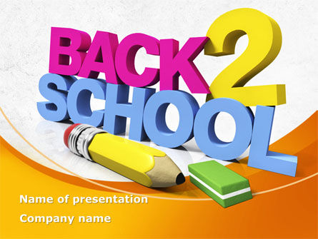 Back 2 School PowerPoint Template, 08735, Education & Training — PoweredTemplate.com