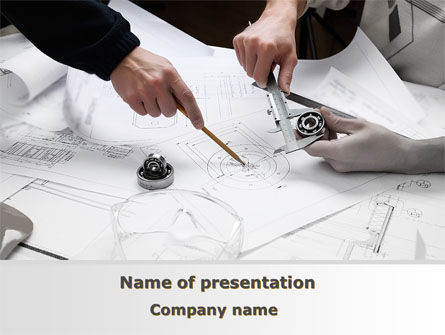 Mechanical Engineering Powerpoint Template, Backgrounds | 08738