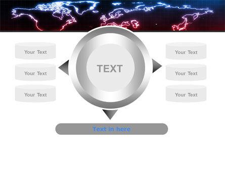 Neon Light World Map PowerPoint Template Slide 12