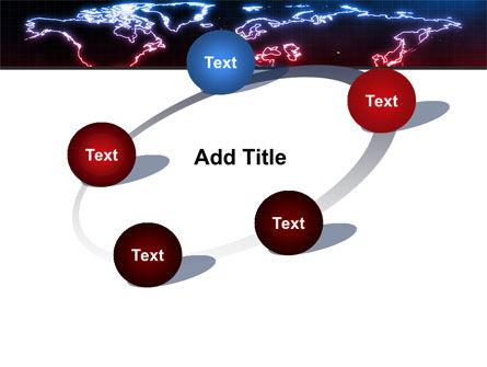Neon Light World Map PowerPoint Template Slide 14