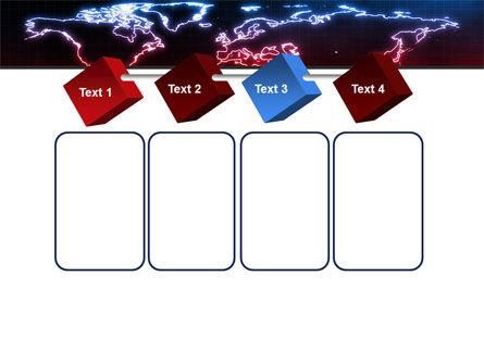 Neon Light World Map PowerPoint Template Slide 18