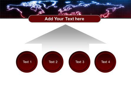 Neon Light World Map PowerPoint Template Slide 8