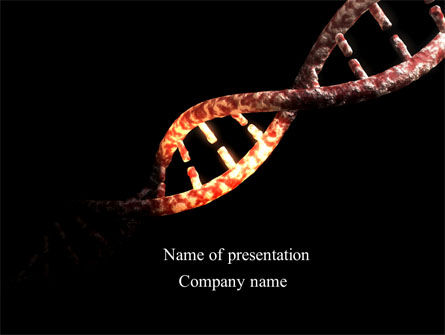 Technology and Science: DNA Double Spiral PowerPoint Template #08741