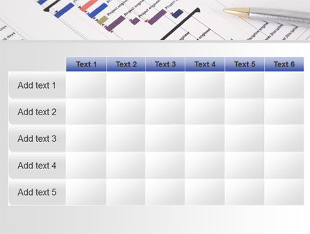 Gantt Project Diagram PowerPoint Template Slide 15