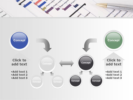 Gantt Project Diagram PowerPoint Template Slide 19