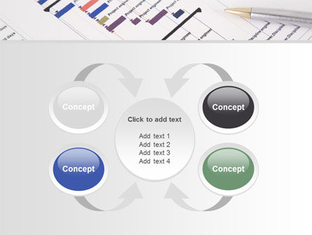Gantt Project Diagram PowerPoint Template Slide 6