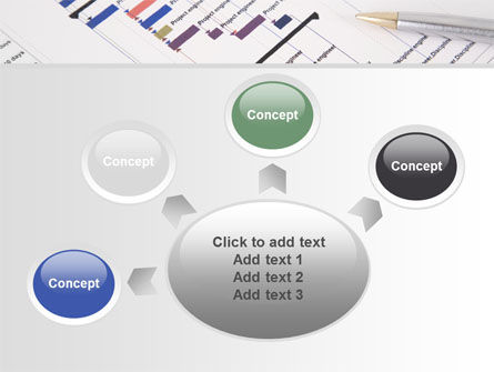 Gantt Project Diagram PowerPoint Template Slide 7