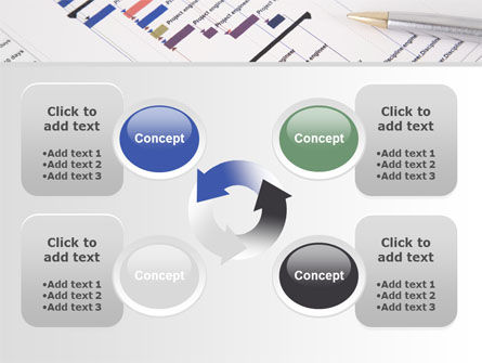 Gantt Project Diagram PowerPoint Template Slide 9