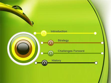 Flower Dew PowerPoint Template, Slide 3, 08745, Nature & Environment — PoweredTemplate.com