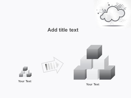 Stylized Cloud PowerPoint Template Slide 13