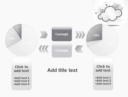Stylized Cloud PowerPoint Template Slide 16
