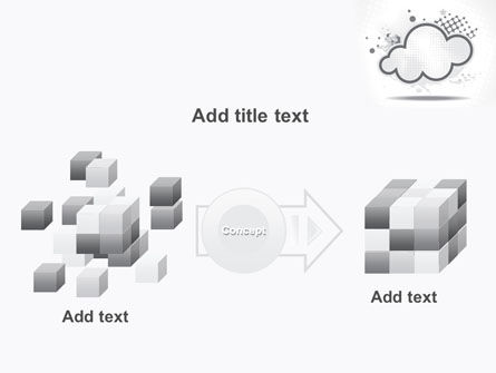 Stylized Cloud PowerPoint Template Slide 17