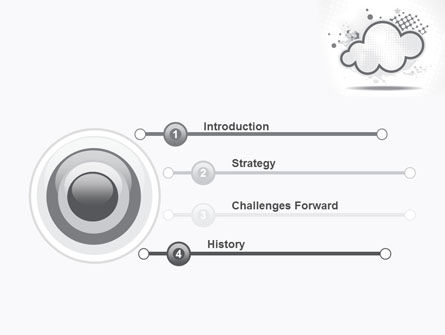 Stylized Cloud PowerPoint Template Slide 3
