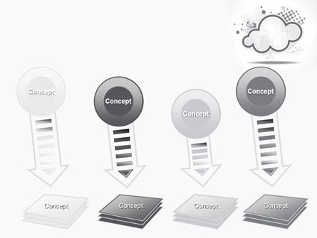 Stylized Cloud PowerPoint Template Slide 8