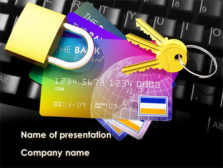 Financial/Accounting: Online Payment Security PowerPoint Template #08750