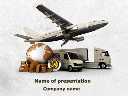 Cars and Transportation: Shipping Service PowerPoint Template #08751