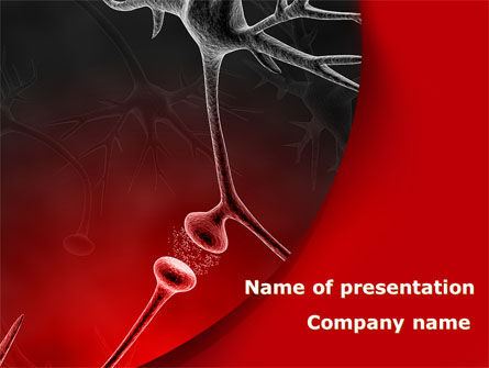 Nervous Fibers PowerPoint Template, 08753, Medical — PoweredTemplate.com