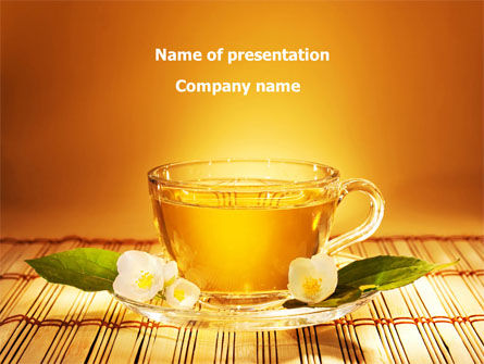 Food & Beverage: Jasmine Tea PowerPoint Template #08754