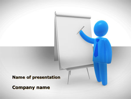 Whiteboard PowerPoint Template, 08755, Education & Training — PoweredTemplate.com