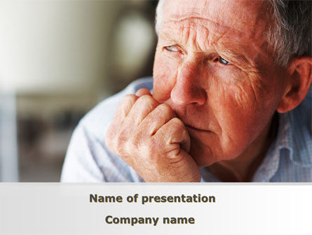 Old Man PowerPoint Template, 08757, People — PoweredTemplate.com