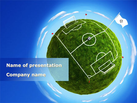 Football Stadium PowerPoint Template, 08759, Sports — PoweredTemplate.com
