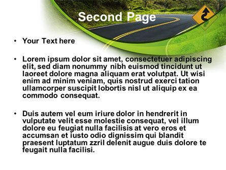Long And Winding Road PowerPoint Template Slide 2