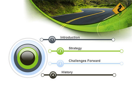 Long And Winding Road PowerPoint Template Slide 3