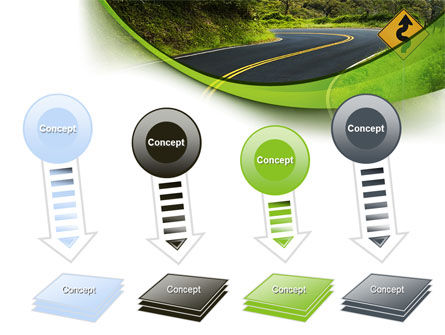 Long And Winding Road PowerPoint Template Slide 8