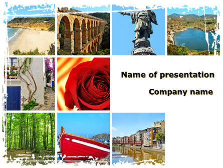 Careers/Industry: Travel Memories PowerPoint Template #08764