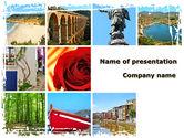 Careers/Industry: Modèle PowerPoint de souvenirs de voyage #08764