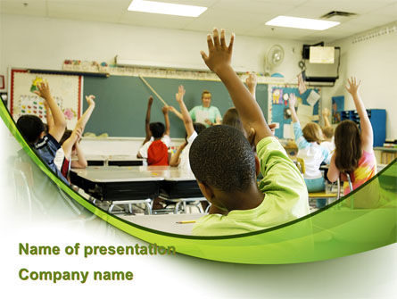 Classroom Education PowerPoint Template, 08768, Education & Training — PoweredTemplate.com
