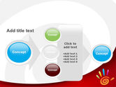 Colorful Palmprint PowerPoint Template#17