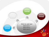 Colorful Palmprint PowerPoint Template#7