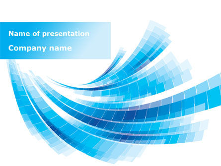 Light Blue Stripes PowerPoint Template