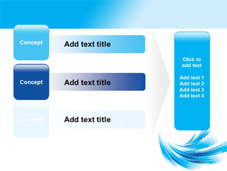 Light Blue Stripes PowerPoint Template Slide 12