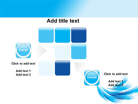 Light Blue Stripes PowerPoint Template Slide 16