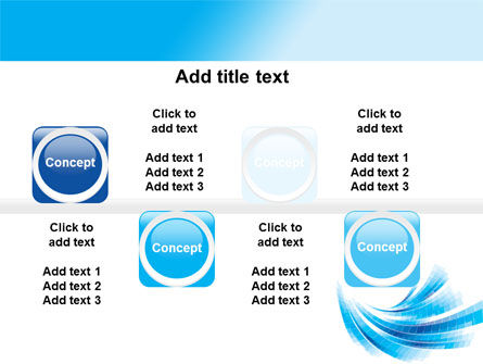 Light Blue Stripes PowerPoint Template Slide 19