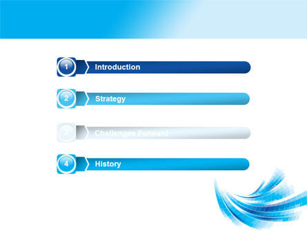 Light Blue Stripes PowerPoint Template Slide 3